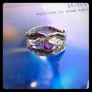 Sterling Silver Amethyst Ring 🔮
